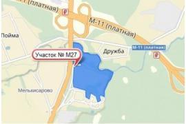 Земля в Москве 19,1 га № M27